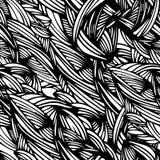 Reticolo senza giunte con il foglio handmade Potete cambiare i precedenti Può essere usato per la stampa sul tessuto, carta, libr Fotografia Stock Libera da Diritti