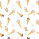 Reticolo senza giunte con il gelato Immagine Stock