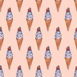 Reticolo senza giunte con il gelato illustrazione vettoriale
