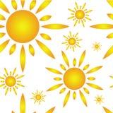 Reticolo senza giunte con il sole Immagine Stock