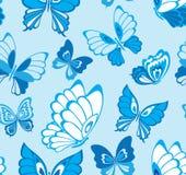 Reticolo senza giunte con la farfalla Fotografie Stock Libere da Diritti