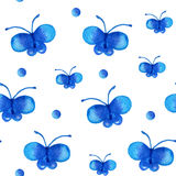 Reticolo senza giunte con la farfalla Immagine Stock Libera da Diritti