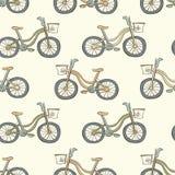 Reticolo senza giunte con le biciclette Immagini Stock