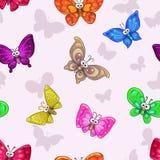 Reticolo senza giunte con le farfalle Fotografia Stock Libera da Diritti