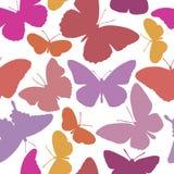 Reticolo senza giunte con le farfalle Fotografie Stock
