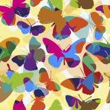 Reticolo senza giunte con le farfalle Immagini Stock Libere da Diritti