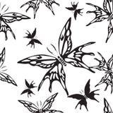 Reticolo senza giunte con le farfalle Rebecca 36 illustrazione vettoriale