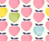Reticolo senza giunte con le mele royalty illustrazione gratis