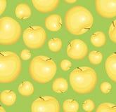 Reticolo senza giunte con le mele gialle. Illust di vettore Fotografie Stock Libere da Diritti