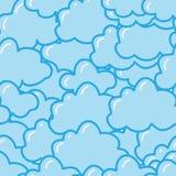 Reticolo senza giunte con le nubi sveglie Immagini Stock