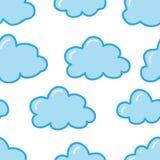 Reticolo senza giunte con le nubi sveglie Immagini Stock Libere da Diritti
