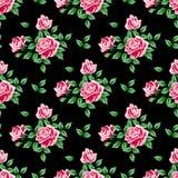 Reticolo senza giunte con le rose Fotografia Stock