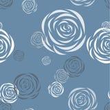Reticolo senza giunte con le rose stilizzate Immagine Stock Libera da Diritti
