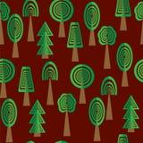 Reticolo senza giunte degli alberi royalty illustrazione gratis