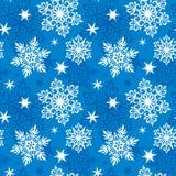Reticolo senza giunte dei fiocchi di neve Immagine Stock