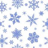 Reticolo senza giunte dei fiocchi di neve Fotografia Stock
