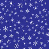 Reticolo senza giunte dei fiocchi di neve Fotografia Stock Libera da Diritti