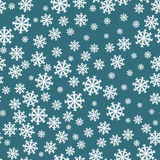 Reticolo senza giunte dei fiocchi di neve Decorazione del fondo del fiocco di neve Vettore del modello di Natale Fotografia Stock