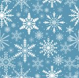 Reticolo senza giunte dei fiocchi di neve Struttura di ripetizione gelida Fondo infinito del nuovo anno e di Natale Illustrazione Fotografia Stock