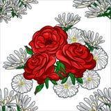 Reticolo senza giunte dei fiori Fotografie Stock