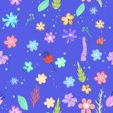 Reticolo senza giunte dei fiori variopinti Fotografia Stock Libera da Diritti