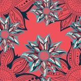Reticolo senza giunte dei fiori variopinti Blocco per grafici floreale Illustrazione di vettore Fotografia Stock