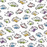 Reticolo senza giunte dei pesci illustrazione vettoriale