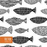 Reticolo senza giunte dei pesci Immagini Stock