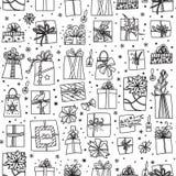 Reticolo senza giunte dei regali di Natale illustrazione di stock