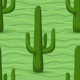 Reticolo senza giunte del cactus Immagini Stock