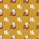 Reticolo senza giunte del caffè Fotografie Stock