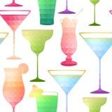Reticolo senza giunte del cocktail illustrazione vettoriale