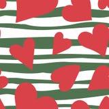 Reticolo senza giunte del cuore Illustrazione di amore di vettore San Valentino, nozze, album per ritagli, carta da imballaggio d illustrazione vettoriale