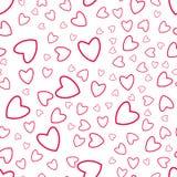 Reticolo senza giunte del cuore Per le stampe, cartoline d'auguri, inviti per la festa, compleanno, nozze, giorno del ` s del big Fotografie Stock Libere da Diritti