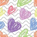 Reticolo senza giunte del cuore Riga ondulata Illustrazione di amore di vettore San Valentino, nozze, album per ritagli, carta da royalty illustrazione gratis