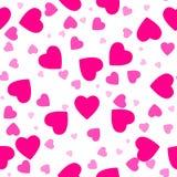 Reticolo senza giunte del cuore Cuore rosa Progettazione di imballaggio per l'involucro di regalo Fondo moderno geometrico astrat royalty illustrazione gratis