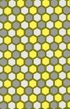 Reticolo senza giunte del favo Colori: grigio, giallo, bianco Immagine Stock