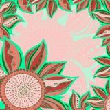 Reticolo senza giunte del fiore variopinto Fotografie Stock