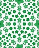 Reticolo senza giunte del fiore verde Fotografie Stock Libere da Diritti