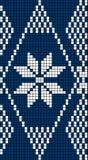 Reticolo senza giunte del Knit del fiocco di neve royalty illustrazione gratis