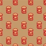 Reticolo senza giunte del popcorn Immagine Stock