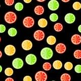 Reticolo senza giunte dell'agrume Frutti affettati Fotografie Stock Libere da Diritti