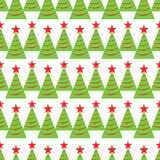 Reticolo senza giunte dell'albero di Natale Fondo di vacanze invernali struttura ripetuta per carta da imballaggio, natale e la d illustrazione di stock