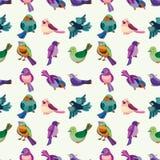 Reticolo senza giunte dell'uccello illustrazione di stock