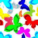 Reticolo senza giunte della farfalla Immagini Stock