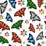 Reticolo senza giunte della farfalla royalty illustrazione gratis
