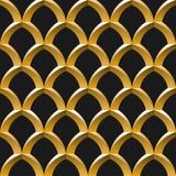 Reticolo senza giunte della gabbia dorata illustrazione vettoriale