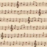 Reticolo senza giunte della notazione musicale Fotografia Stock