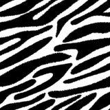 Reticolo senza giunte della pelle della zebra. royalty illustrazione gratis