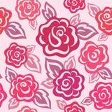 Reticolo senza giunte della Rosa Immagini Stock Libere da Diritti